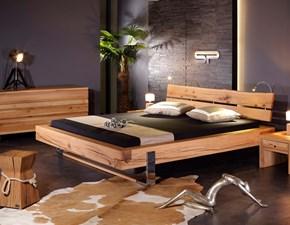 Letto in legno con gambe KuvetArtigianalea prezzo scontato