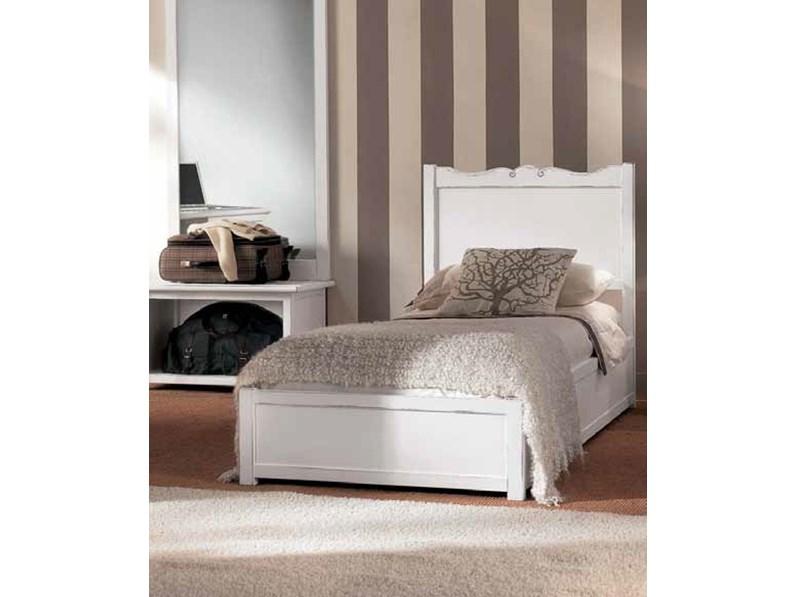 Letto in legno con gambe modello glamour artigianale a prezzo ribassato - Gambe rete letto ...