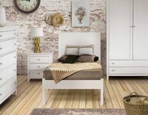 Letto in legno con gambe Singolo legno consumato con rete fine produzioneMd worka prezzo scontato