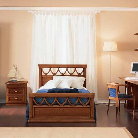 Letto in legno da una piazza e mezza letti a prezzi scontati - Testiera letto legno ...