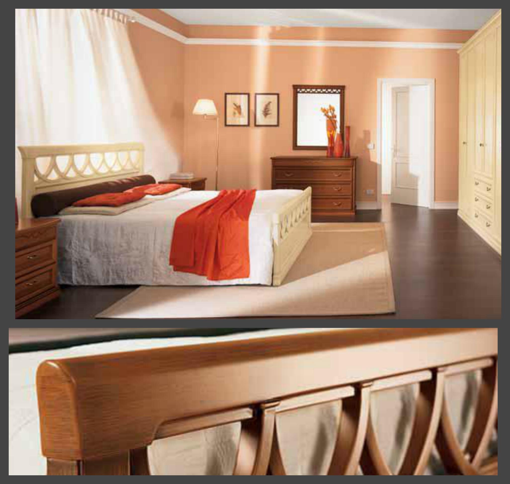 Letto in legno modello rosatea letti a prezzi scontati - Quanto misura un letto matrimoniale ...