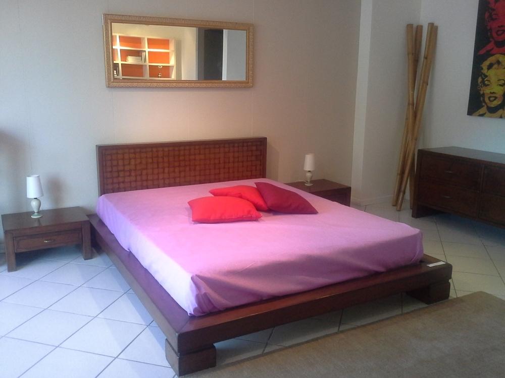 Letto in legno con testata intrecciata letti a prezzi - Testata letto legno ...