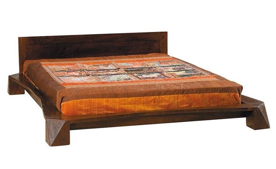 Letto japan futon in legno di noce letti a prezzi scontati - Letto moderno legno ...