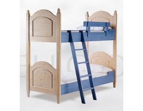 LETTO Letto a castello in legno massello mottes mobili Artigianale in OFFERTA OUTLET