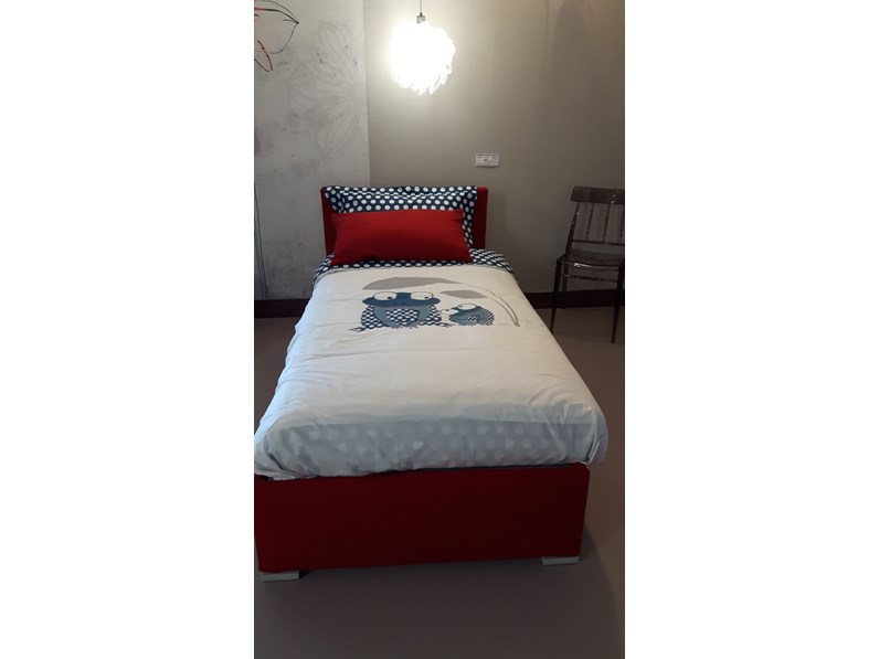 Letto letto singolo biss flou in offerta outlet for Letti flou outlet