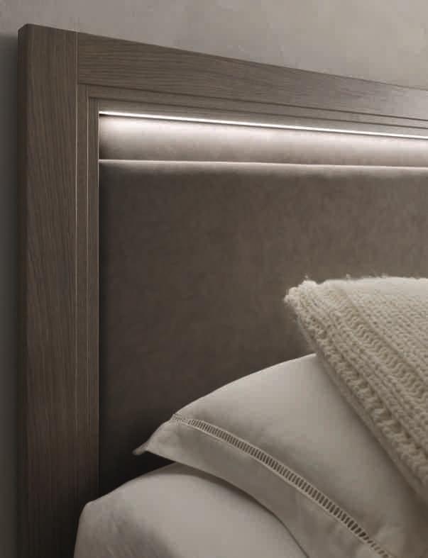 Letto iris matrimoniale moderno legno letti a prezzi - Letto moderno legno ...
