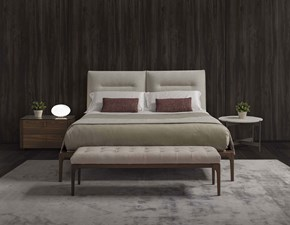 Letto matrimoniale con giroletto Kensington Golden night a prezzo scontato