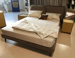 Letto matrimoniale in eco Nabuk Break 14 Excò a prezzo outlet