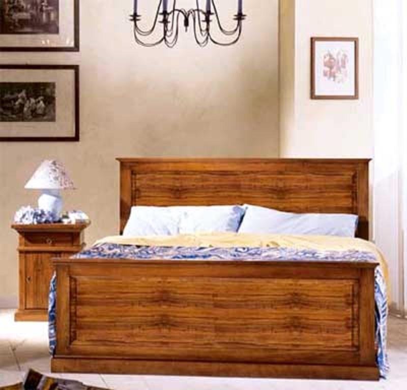Letto matrimoniale modello asolo in legno massello stile - Letto matrimoniale legno ...