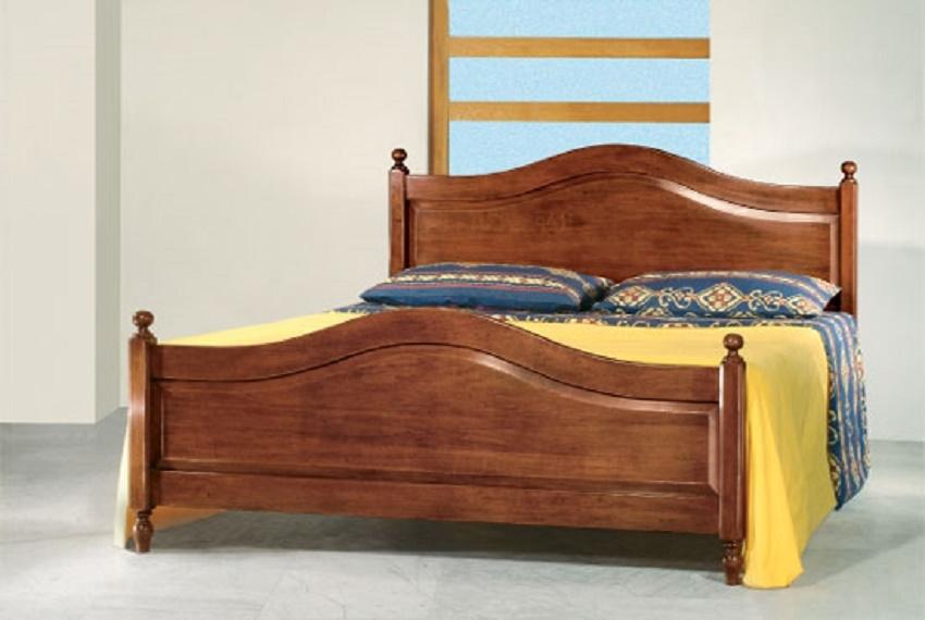 Letto matrimoniale modello bassano in stile classico - Spalliera letto matrimoniale legno ...