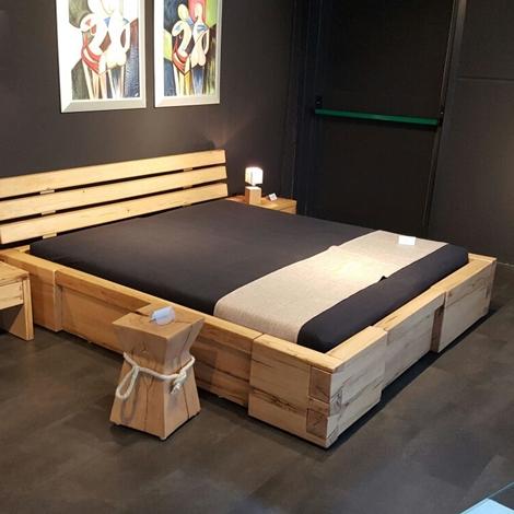 Letto matrimoniale rustico in legno design casa creativa - Letto oggioni prezzo ...