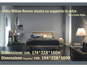 Letto matrimoniale Willow Alta corte con un ribasso del 33%