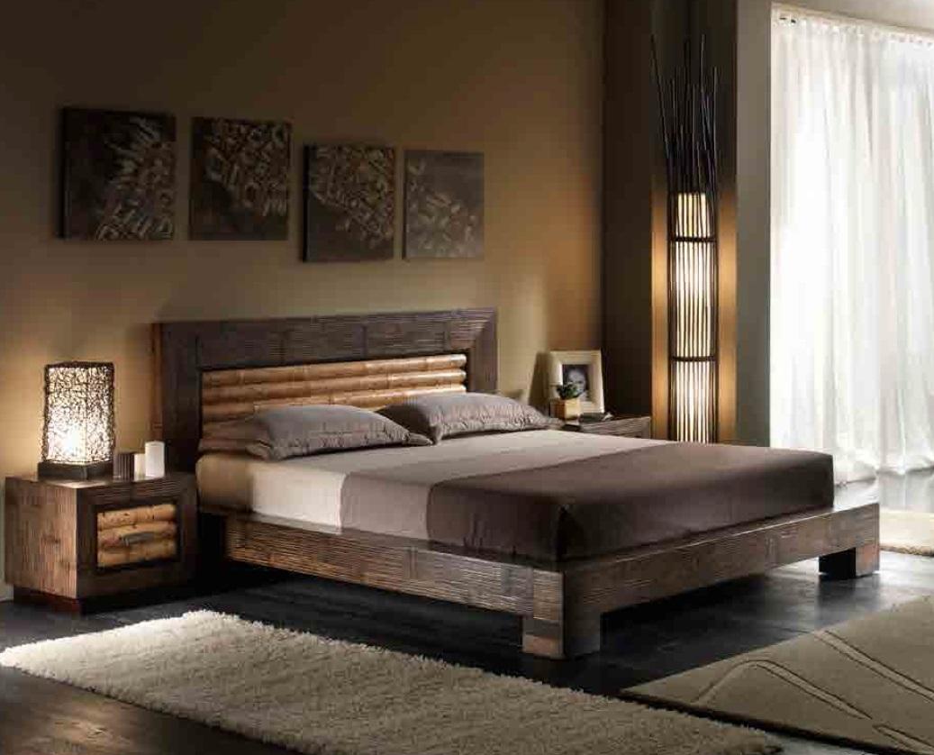 Letto moderno bambu 39 tigrato letti a prezzi scontati for Mobili di design per camere da letto interne