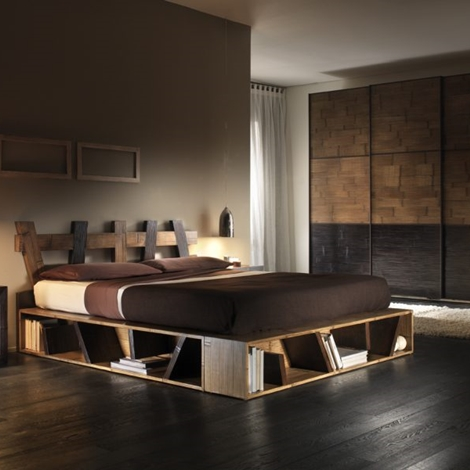 LETTO MODERNO BICOLORE IN CRASH BAMBU'
