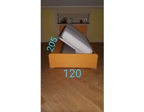 Letto  moderno con contenitore e materasso a prezzo scontato