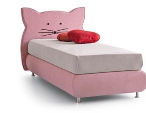 Letto moderno con contenitore Kitty Nefi a prezzo ribassato