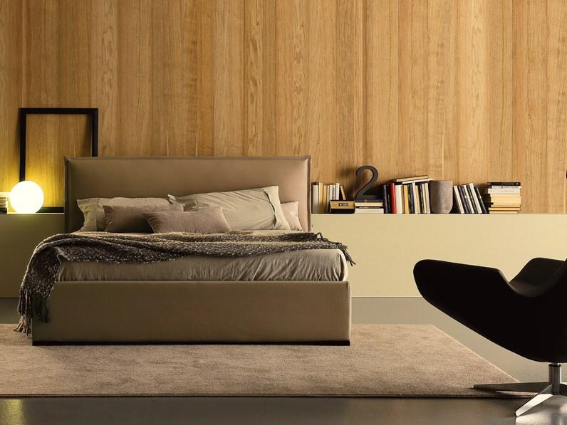 Letto moderno con contenitore michelle ergogreen a prezzo ribassato - Prezzo letto contenitore ...