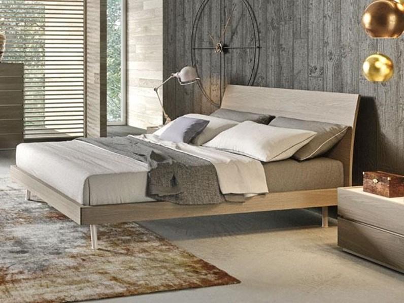 Letto moderno con gambe letto oliver archimede a prezzo scontato - Gambe del letto ...