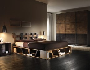 LETTO MODERNO GEOMETRICO IN CRASH BAMBU'