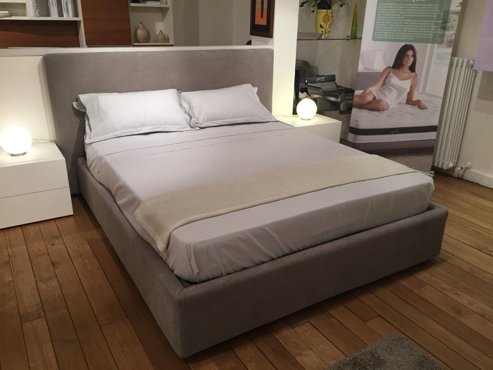 Letto morfeus classic con contenitore comodini scontato - Grandezza letto matrimoniale ...