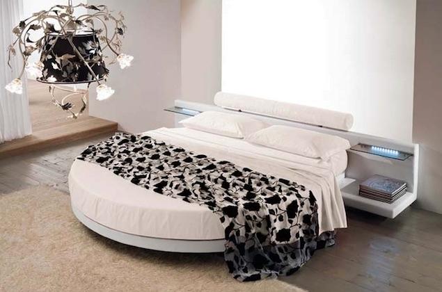 Letto rotondo completo di set lenzuola e materasso letti - Letto completo di rete e materasso ...