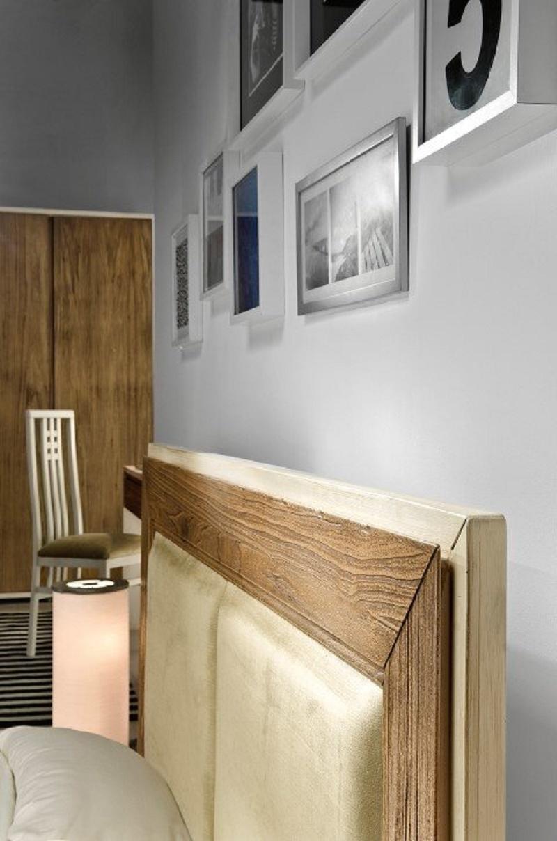 Letto singolo con il contenitore in legno di rovere - Testiera letto legno ...