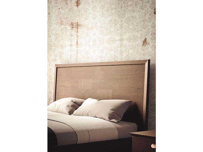 Letto teti in legno testiera intarsiata offerta outlet - Testiera letto in legno ...