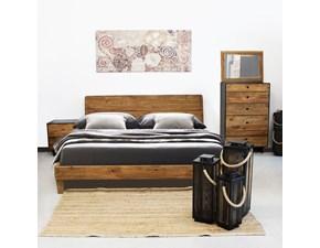 LETTO Vintage legno massello riciclato Outlet etnico in OFFERTA OUTLET