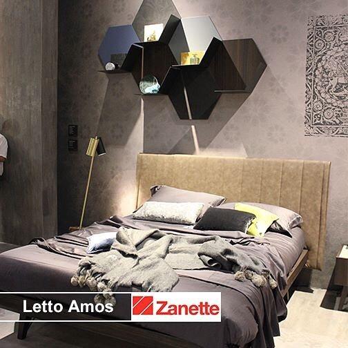 Letto zanette letto amos attrezzato legno imbottito - Letto moderno legno ...