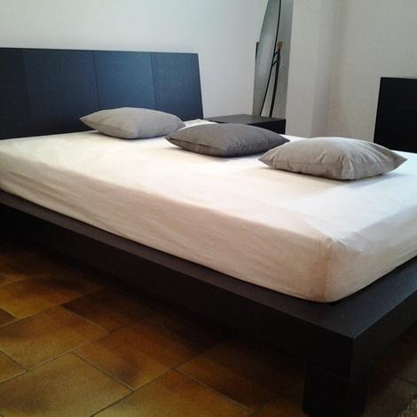 Presotto italia letto club matrimoniale moderno legno - Letto moderno legno ...