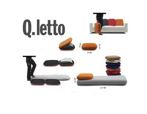 Q-letto trasformabile  grigio diCampeggia prezzo superscontato