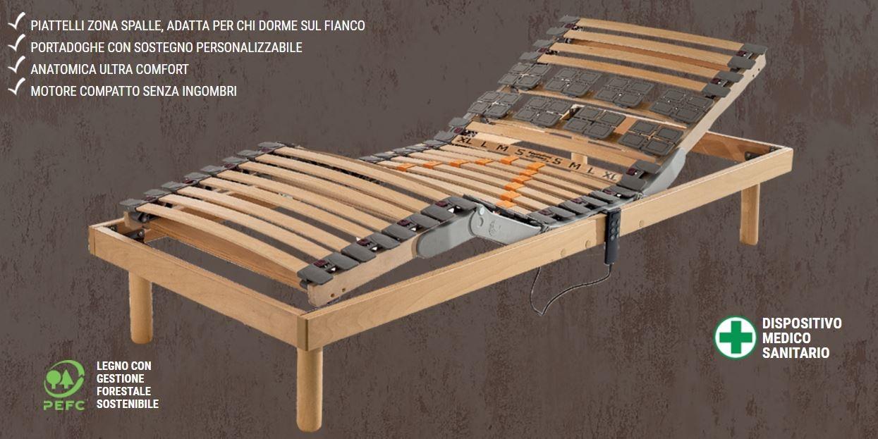 Rete motorizzata per materasso singolo 80 x 195 200 cm mod - Rete per letto singolo ...