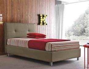 letto singolo piazza mezza contenitore moderno