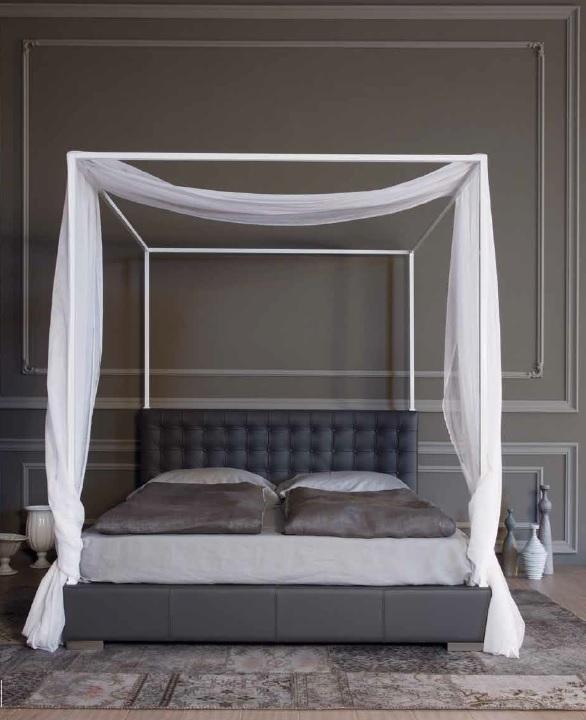 Valdichienti Letto Quadrotto con baldacchino Matrimoniale Design - Letti a prezzi scontati