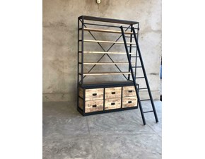 Libreria Industrial in stile moderno di Outlet etnico in OFFERTA OUTLET