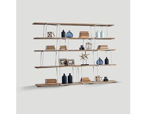 Libreria Libreria design Dialma brown in stile design con forte sconto