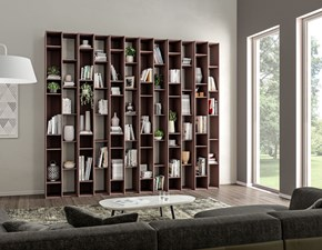 Libreria Living 565 in stile moderno di Giessegi in OFFERTA OUTLET