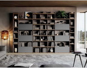 Libreria Qsm 616 in stile moderno di Imab in OFFERTA OUTLET