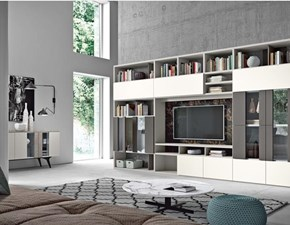 Libreria Start 13 in stile moderno di Mottes selection in OFFERTA OUTLET