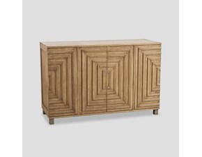 Madia di Dialma brown in legno Credenza design in Offerta Outlet