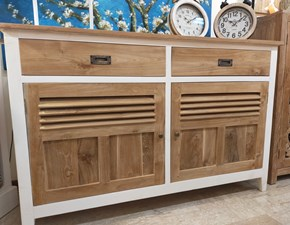 Madia in stile moderno Country-chic in teak massello di Outlet etnico in Offerta Outlet