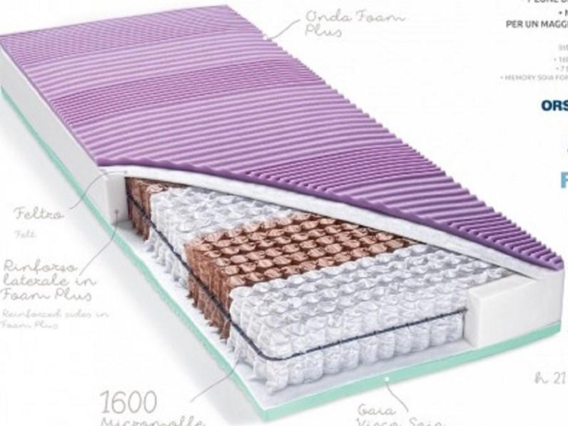 Materassi A Molle Insacchettate.Materasso 1600 Molle Memory Singolo Molle Insacchettate Beldormire