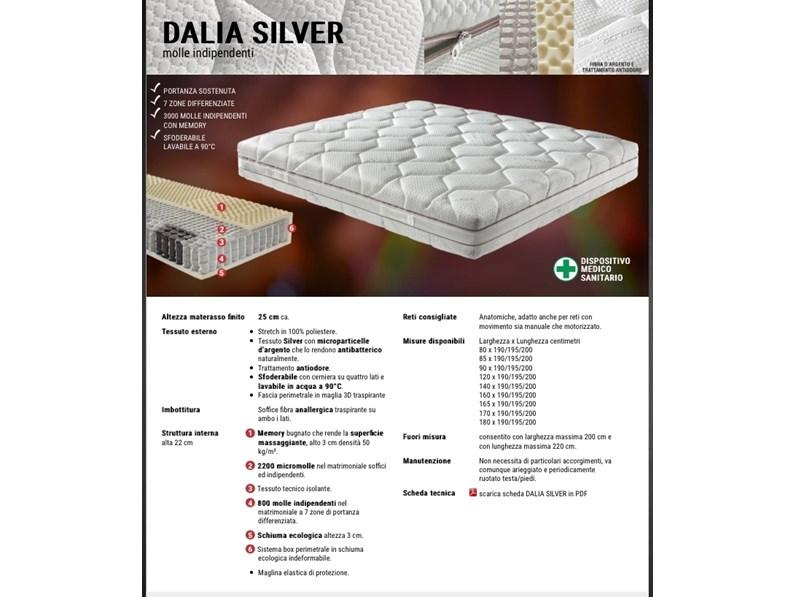 Materasso Ideare Dalia silver molle insacchettate a prezzo scontato