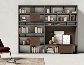 Parete attrezzata Day 126 soggiorno Mottes selection in stile moderno a prezzo ribassato