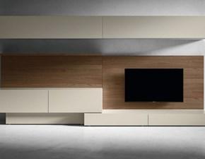 Parete attrezzata L modulart 353 Presotto italia in stile design a prezzo scontato