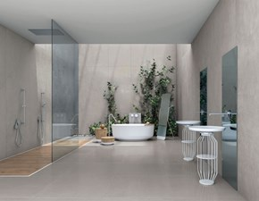 Pavimento in ceramica Cotto d�estecolor-20 cement project 60�120 � gres effetto cemento grigio scuro di Cotto d`este in Offerta Outlet