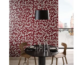 Pavimento in ceramica Kerlite leaves red wonderwall di Cotto d`este a prezzo scontato