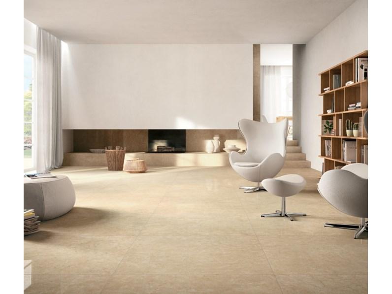 Pavimento in ceramica Kerlite marfil exedra silk 100x100x0.55 di ...