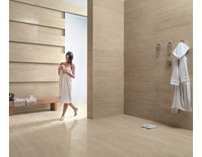 Pavimento in ceramica Kerlite travertino exedra silk 100x300x0.55 di Cotto d`este a prezzi outlet