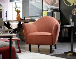 Poltrona con seduta fissa Musetta Egoitaliano in Offerta Outlet